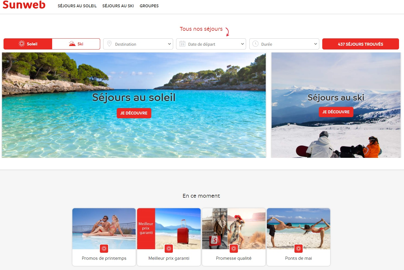 Le site Sunweb fait partir 100 000 voyageurs français par an - DR