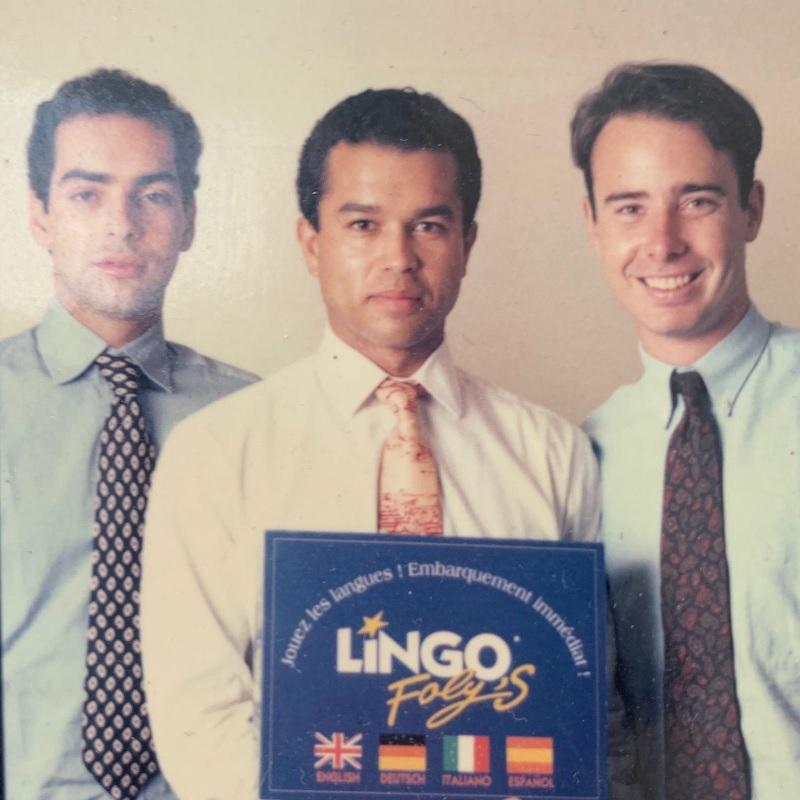 Olivier Kervella à droite avec ses associés. Ils ont lancé LingOfoly's un jeu pour apprendre les langues - DR