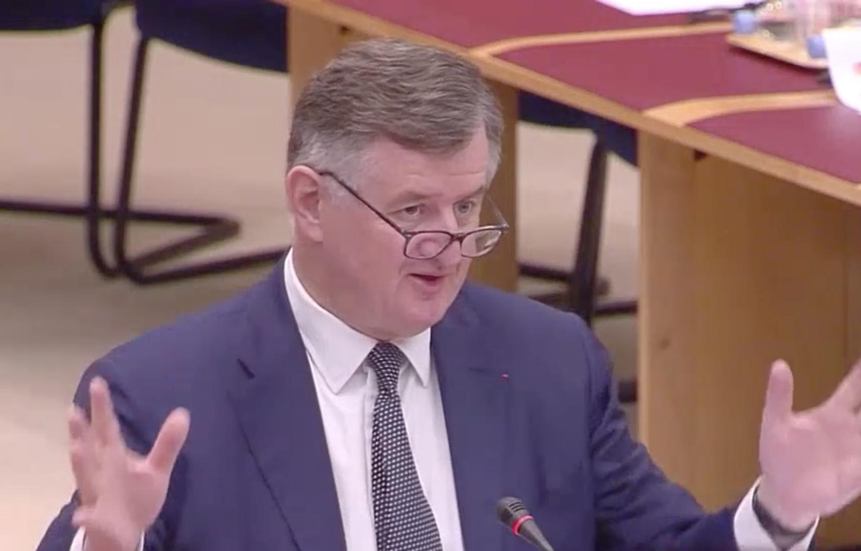 Augustin de Romanet a été entendu par le Sénat puis l'Assemblée Nationale, mercredi 22 mai 2019 © capture d'écran