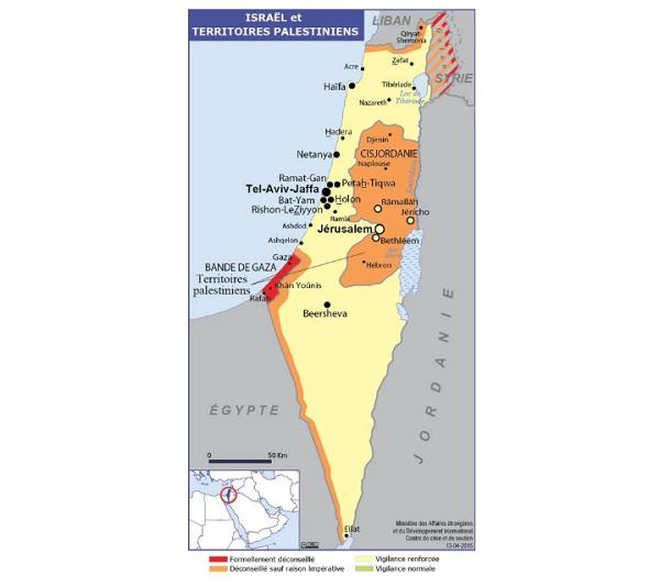 Israël-Palestine : tensions aux abords de la bande de Gaza - Crédit photo : Quai d'Orsay