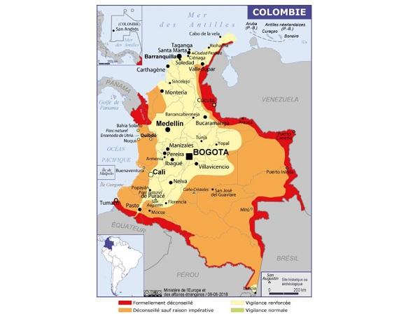 Colombie : le Quai d'Orsay déconseille de fréquenter la zone de Cerro Azul - Crédit photo : Quai d'Orsay