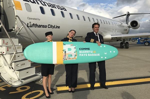 Lufthansa : l'aéroport de Biarritz fête l'arrivée du vol depuis Munich - Crédit photo : Lufthansa