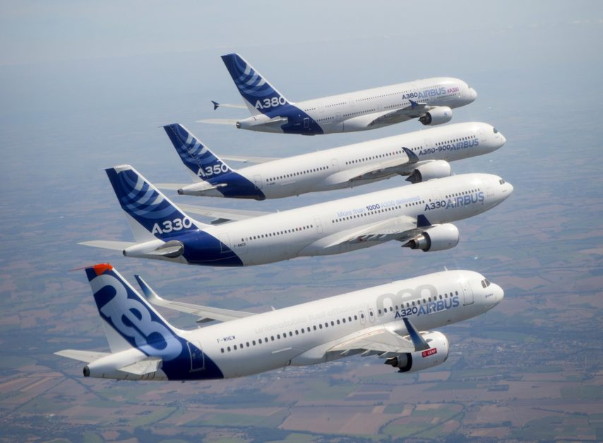 La famille Airbus fêtera son 50e anniversaire dans les airs, mercredi 29 mai © Airbus