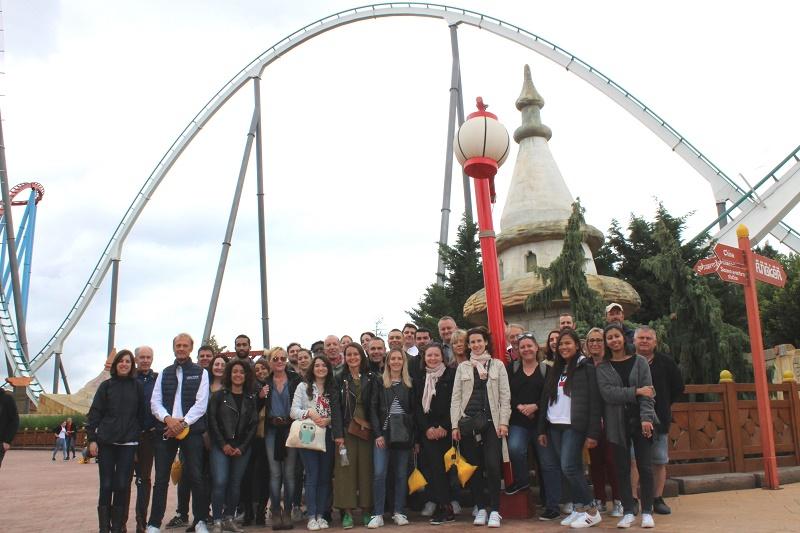 Les participants à PortAventura en Catalogne - DR