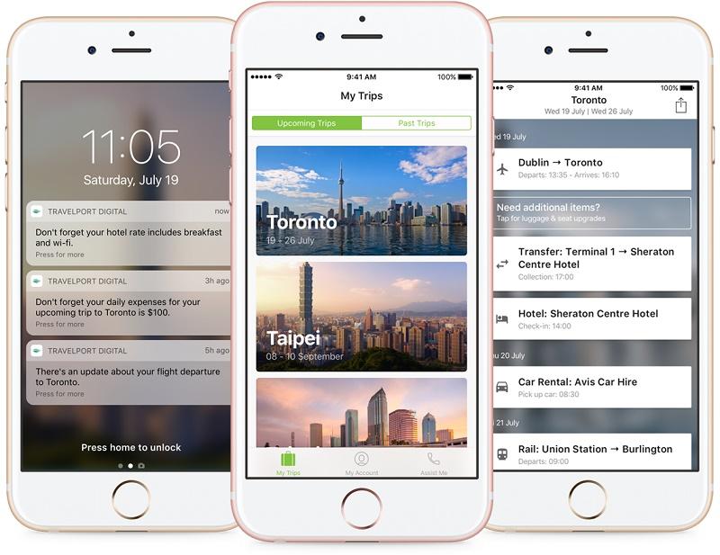Trip Assist, l'appli développée par Travelport - DR