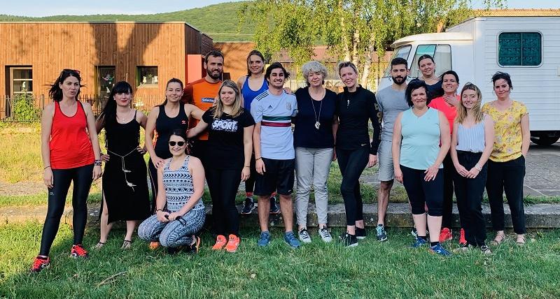 Entraînement avant la course du 16 juin 2019 ! Douze collaborateurs de Traces et Découverte participeront à la course des Héros, un challenge solidaire de 6 kilomètres qui a lieu tous les ans dans trois villes de France - DR