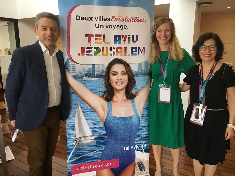 Laurent Gahnassia, Laureline Morel et Maguy Sitbon forment l'équipe du bureau français de l'Office de tourisme d'Israël -  CL