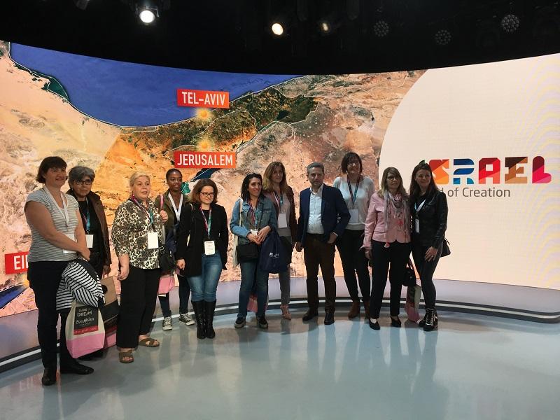 Pour son workshop, mardi 4 juin 2019, l'office de tourisme d'Israël a formé les agents de voyages franciliens sur le plateau du journal télévisé de M6 - DR : CL