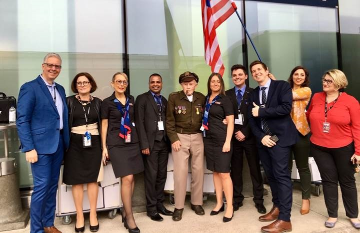American Airlines a transporté la vingtaine de vétérans américains du Débarquement et leurs invités - DR
