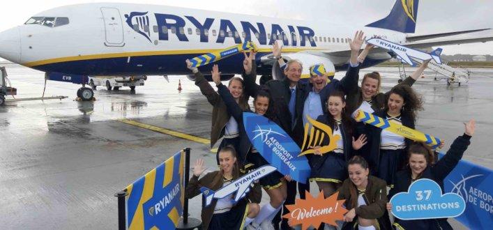 Ryanair a célébré ce 12 juin l'ouverture de ses 2 nouvelles bases à Bordeaux et à Marseille - DR