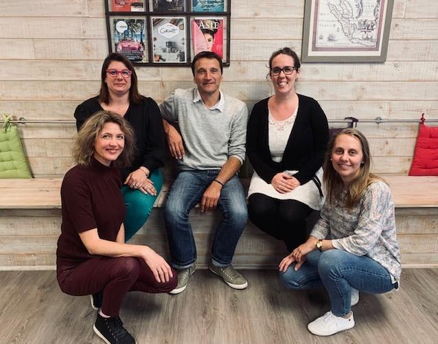 Christine Fumeau (à gauche) et son équipe - DR : EvaZion