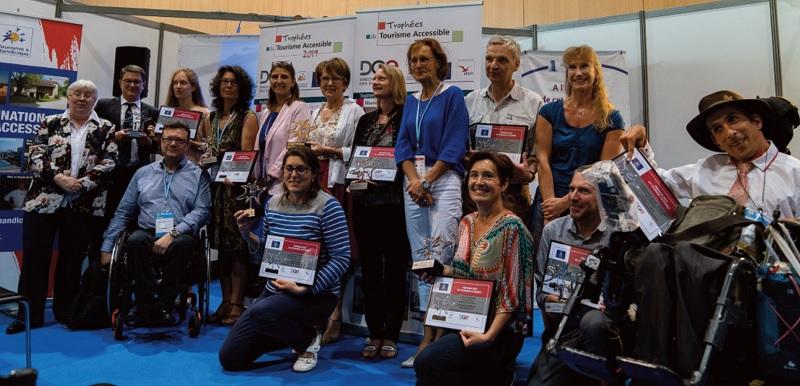 La remise des 5e Trophées du tourisme accessible s'est déroulée lors du salon Handica de Lyon, les 5 et 6 juin 2019 - DR : Tourisme & Handicaps