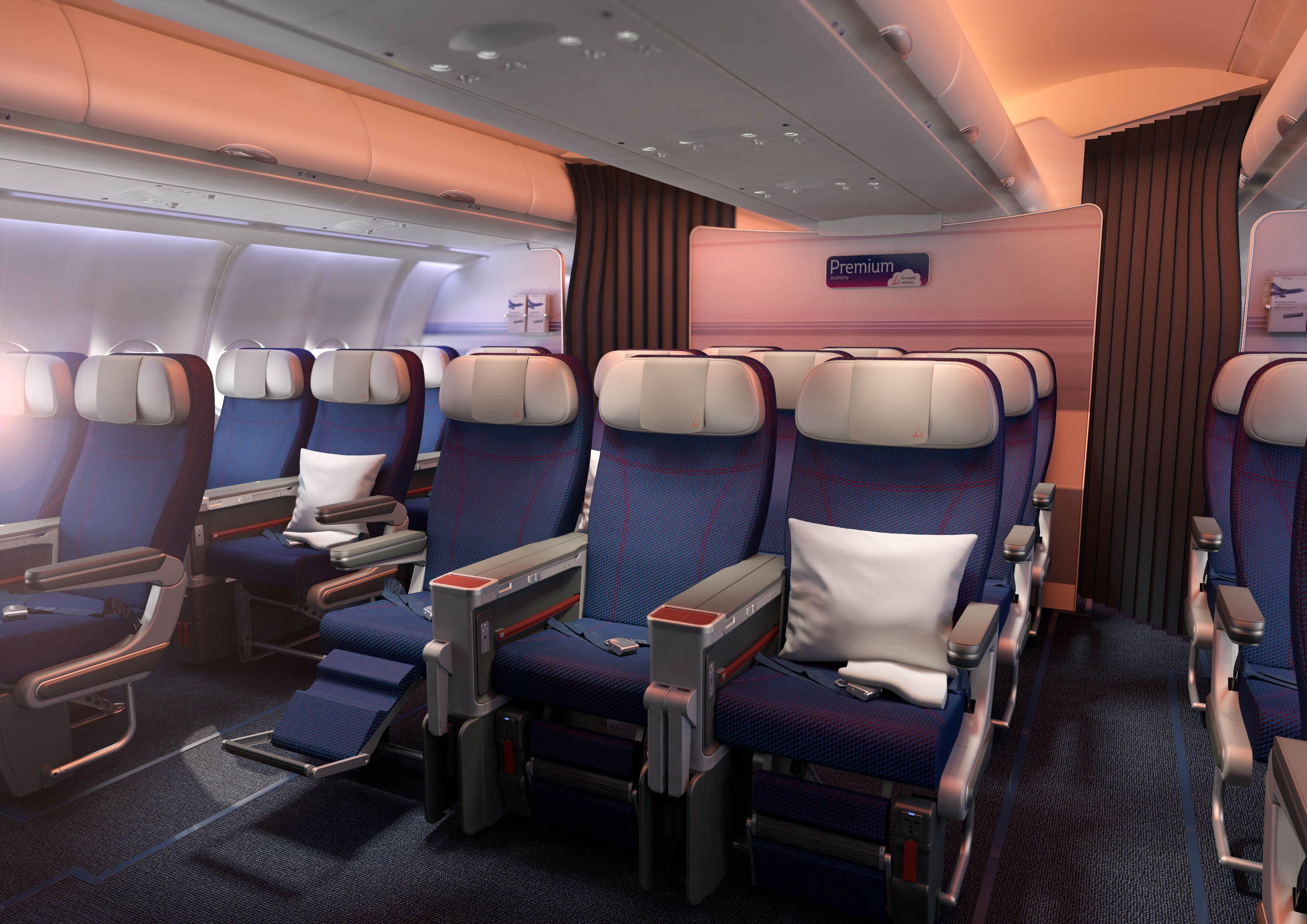 La cabine Premium-eco © Brussels Airlines