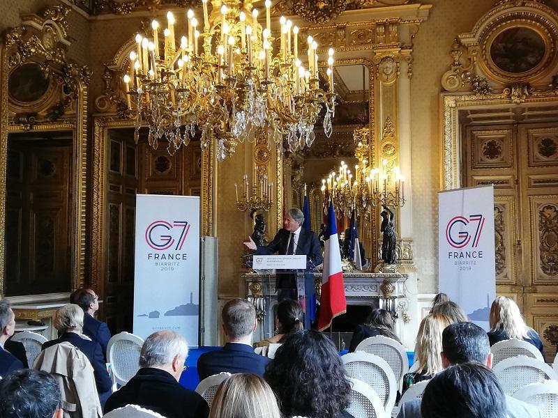 """Dans le cadre du G7, lancement au Quai d'Orsay du programme """"Destinations Internationales Responsables, en présence des 9 villes engagées - DR : Twitter France Congrès Evénements"""