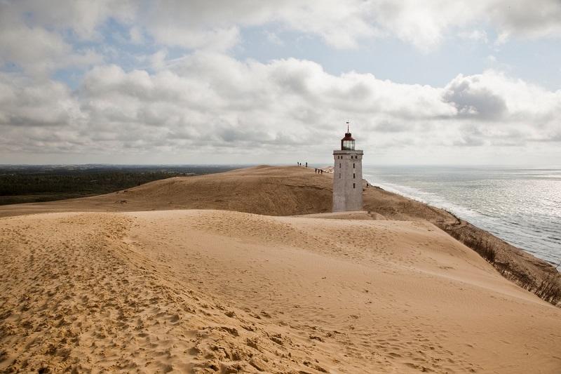 Le phare Rubjerg Knude, au Nord de Jutland - DR : Kim Wyon
