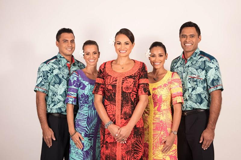Les nouveaux uniformes d'Air Tahiti Nui pour les hôtesses et le stewards - DR