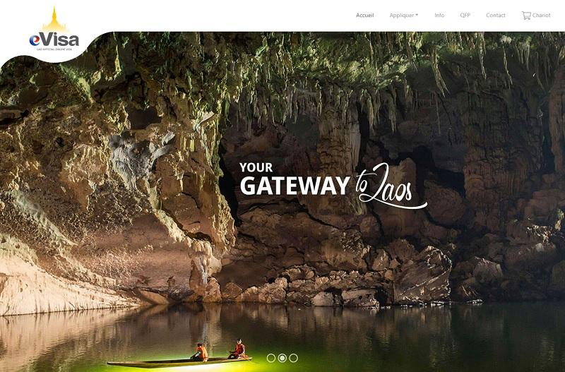 Site du eVisa laotien - @evisa.gov.la