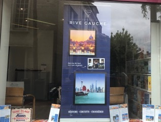 Une vitrine Voyages Rive Gauche - DR