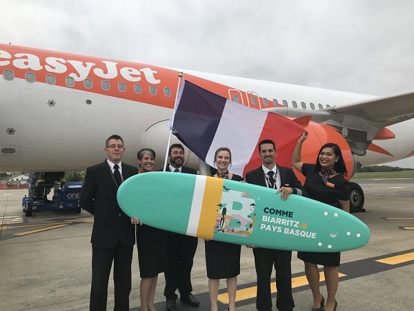 Aéroport Biarritz : le vol inaugural depuis Bristol a posé son train d'atterrissage - Crédit photo : easyJet