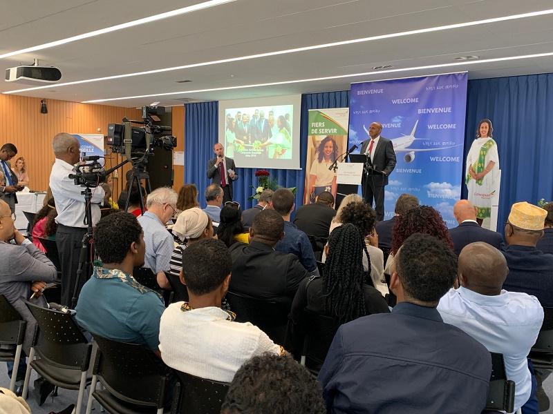 Tewolde GebreMariam, CEO d'Ethiopian Airlines lors de la conférence de presse tenue à l'aéroport Marseille Provence - DR : J.B.