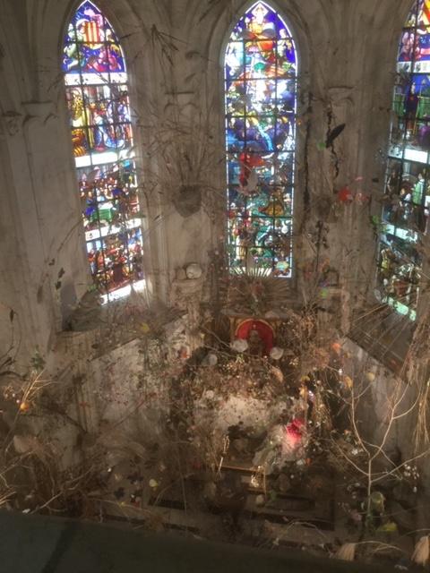 L'art floral jusque dans la chapelle à Chaumont - DR : J.-P. C.