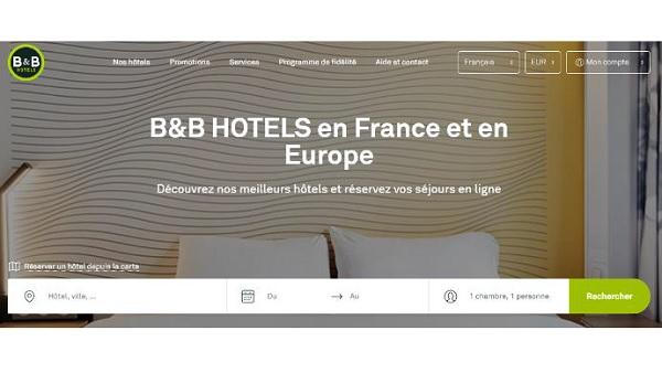 B&B Hôtels fait le pari d'un seul site internet pour couvrir 3 pays - crédit photo : B&B Hôtels
