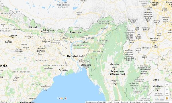 """Népal : le Quai d'Orsay recommande de """"limiter les déplacements hors de la vallée de Katmandou"""" - Crédit photo : Google Maps"""