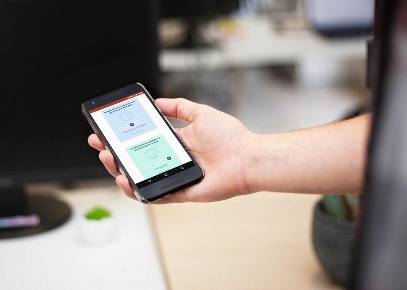 La start-up Supermood administre des micro-sondages réguliers et anonymes pour connaître l'avis et l'état d'esprit des collaborateurs. - DR