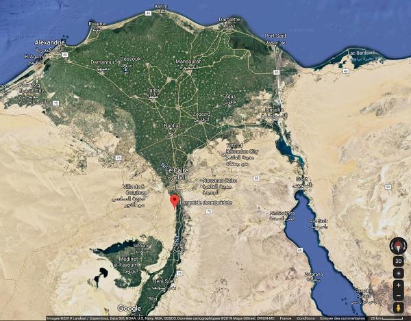 Egypte : deux nouvelles pyramides accessibles aux touristes - Crédit photo : Google Maps