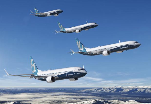 Les B737 Max ont été interdits de vol jusqu'à nouvel ordre suite aux crahs de Lion Air et d'Ethiopian Airlines - DR Boeing