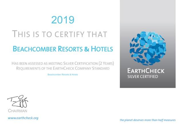Beachcomber Resorts & Hotels obtient la certification EarthCheck