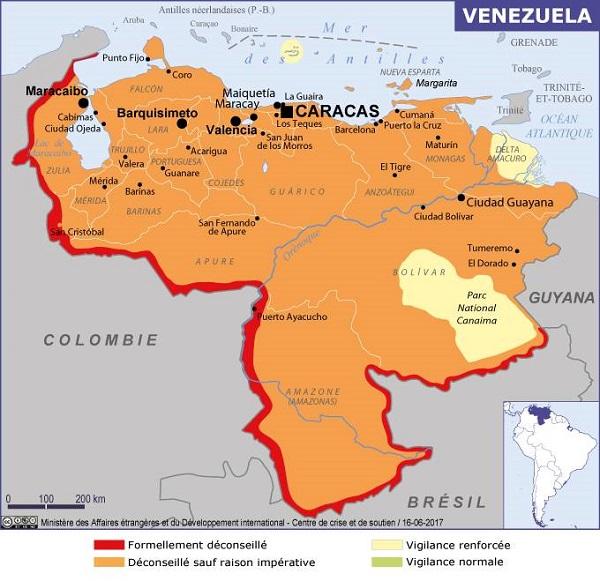 """Venezuela : le Quai d'Orsay recommande de """"reporter tout déplacement"""" - Crédit photo : France Diplomatie"""