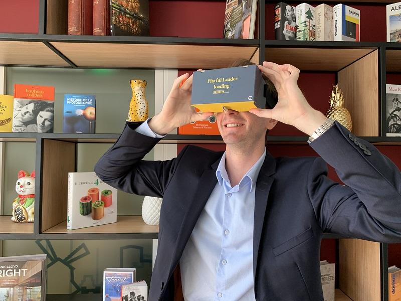 Imaginé en partenariat avec MySerious-Game, leader français de la formation digitale sur-mesure, le dispositif de formation intégrant la réalité virtuelle permet d'augmenter l'appétence des collaborateurs pour la formation et d'optimiser la mémorisation de l'information - DR : Golden Tulip