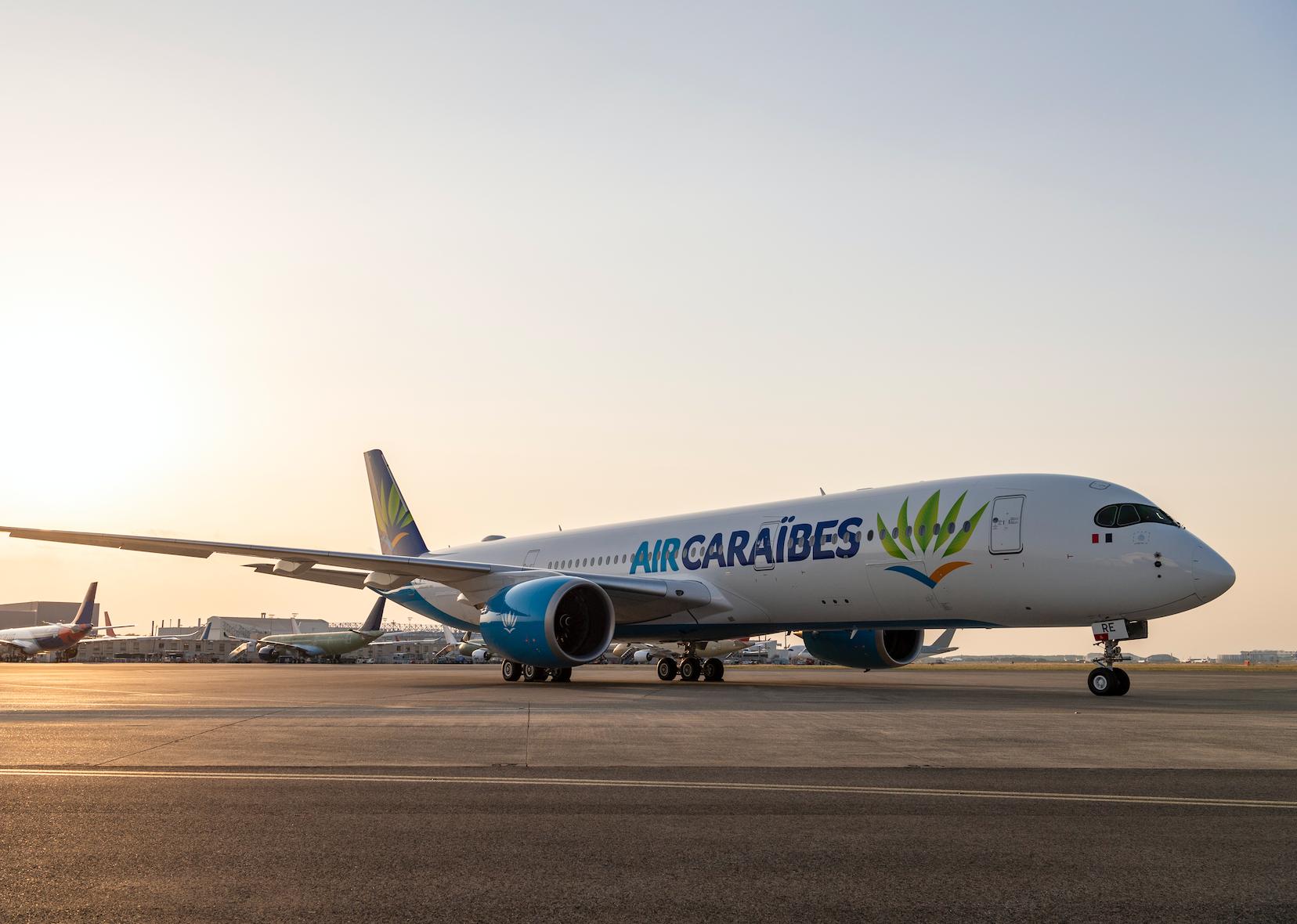 Jeudi 25 juillet 2019, Air Caraïbes a pris possession d'un A350-900 flambant neuf © Airbus 2019, A. Doumenjou / Master films