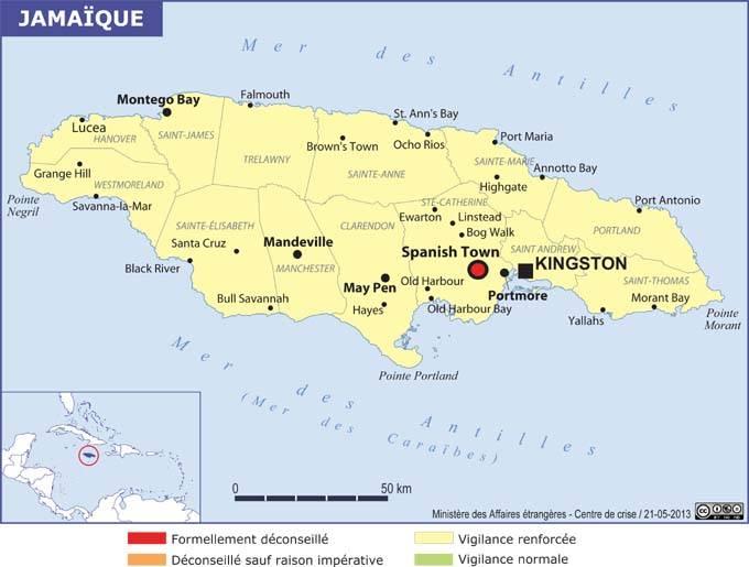 L'Etat d'urgence déclaré dans 4 régions de la Jamaïque - DR MEAE