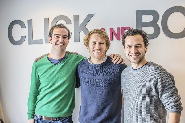 Edouard Gorioux et Jérémy Bismuth les fondateurs de Click&Boat avec François Gabart l'un des actionnaires - Crédit photo : Click&Boat