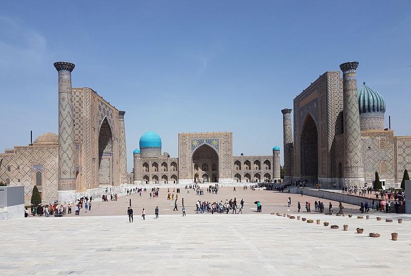 Le Régistan est l'ancien cœur de la ville de Samarcande, en Ouzbékistan qui est une destination qui a le vent en poupe - DR CE
