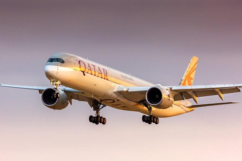 L'A350-1000 est équipé de 327 sièges répartis en 2 cabines : 46 sièges Qsuite Classe Affaires et 281 sièges extra larges de 18'' en Classe Economique © Paul Marais-Hayer