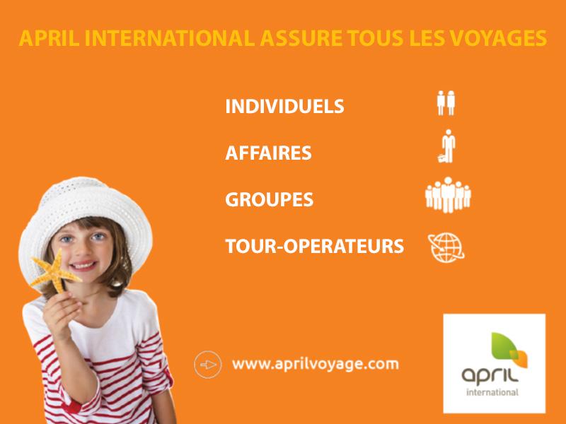APRIL International Voyage, le spécialiste de l'assurance voyages, à votre service