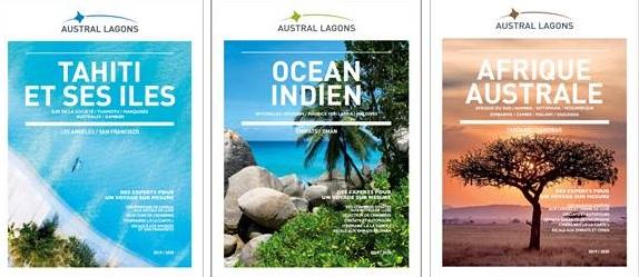 Les 3 nouvelles brochures Austral Lagons - DR