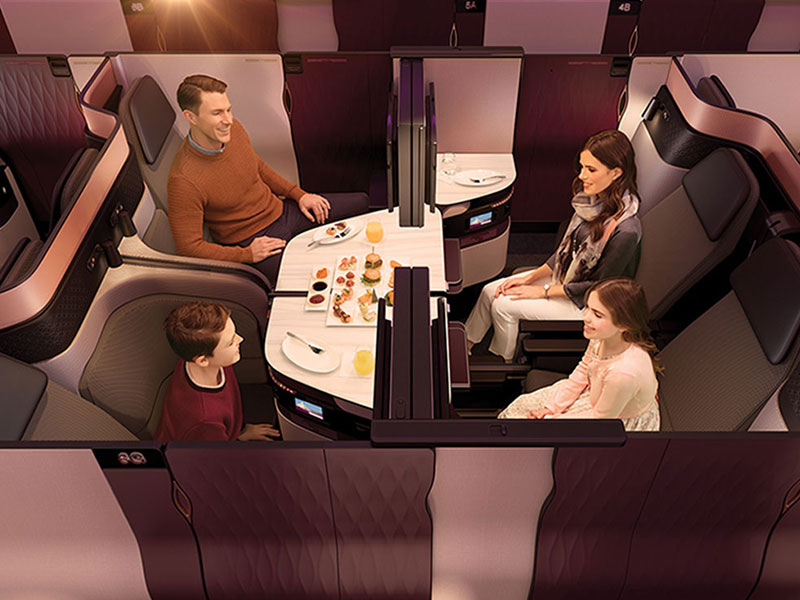 L'A350-1000 est conçu pour répondre parfaitement aux besoins des passagers - DR qatarairways.com