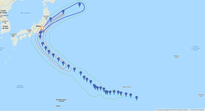 Le typhon Faxai a touché la région de Tokyo, avec des rafales de vent ayant dépassé les 200km/h - Crédit photo : Google Maps