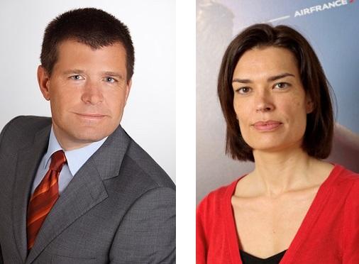 Jennifer Mazet et Fabio Andaloro devienent directeurs des ventes sur le marché France - Crédit photo : Air France