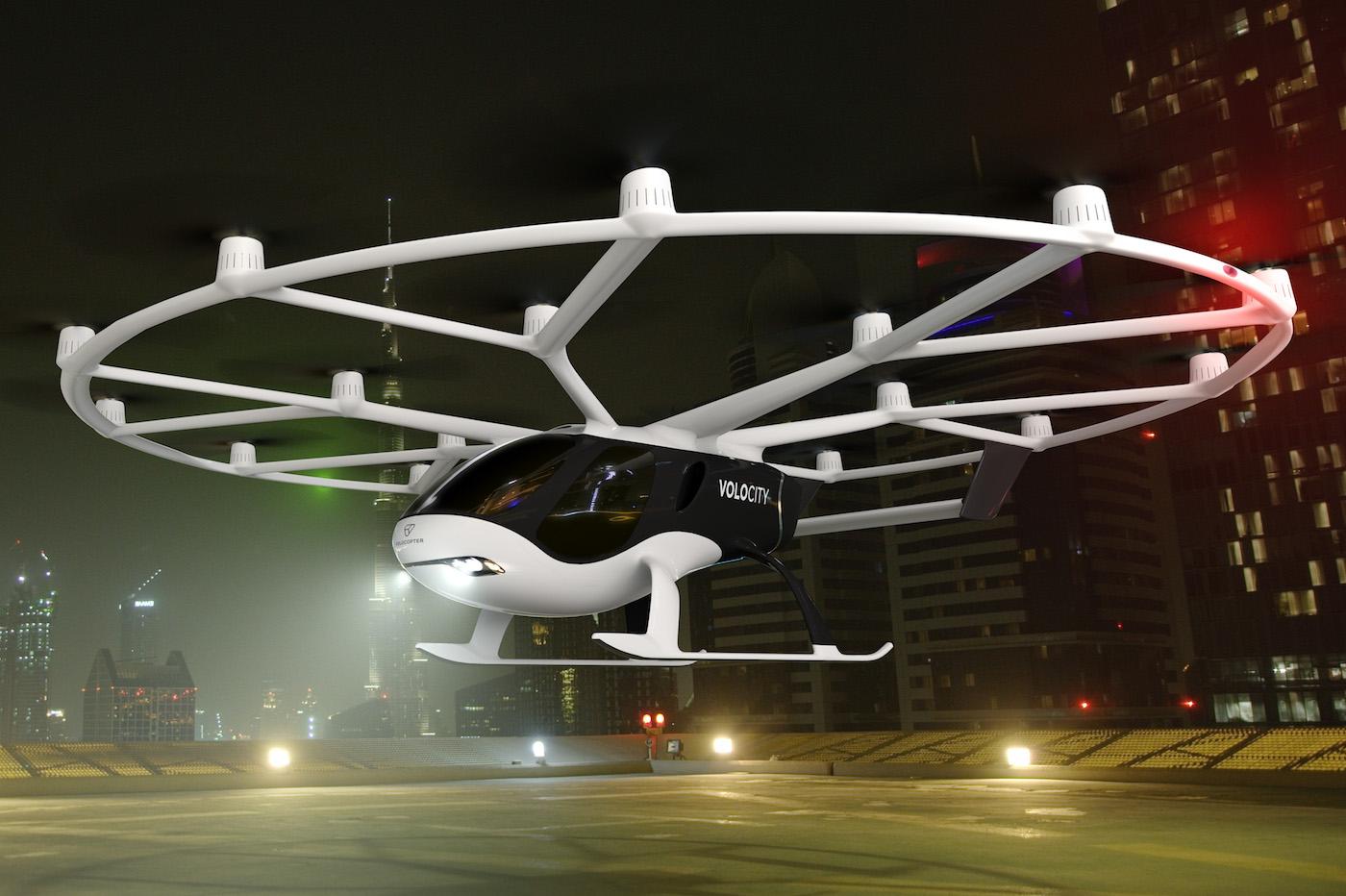VoloCity la dernière génération de taxi volant couçu par Volocopter - DR