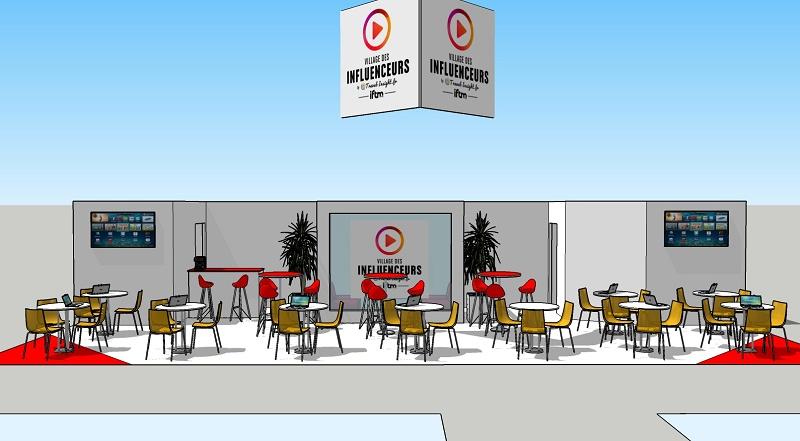 L'espace dédié au Village des Influenceurs sur le salon de l'IFTM Top Resa - DR