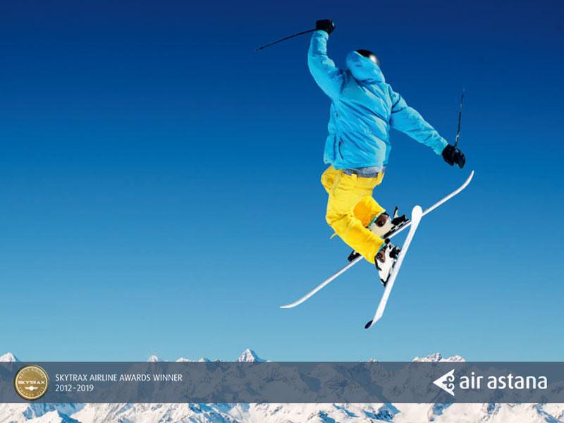 A 20 minutes d'Almaty, Ski à la station de Shymbulak à 3200m d'altitude