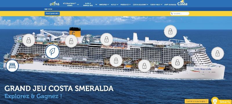 Un jeu interactif lancé par Costa Croisières pour faire découvrir son nouveau navire amiral - DR