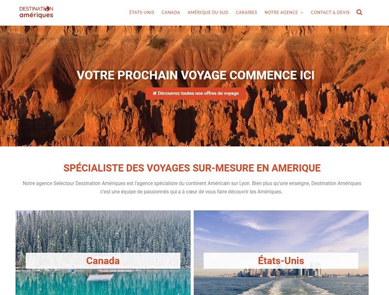 """Le site web de """"Destinations Amériques"""" a connu une mise à jour - Crédit photo : Destinations Amériques"""