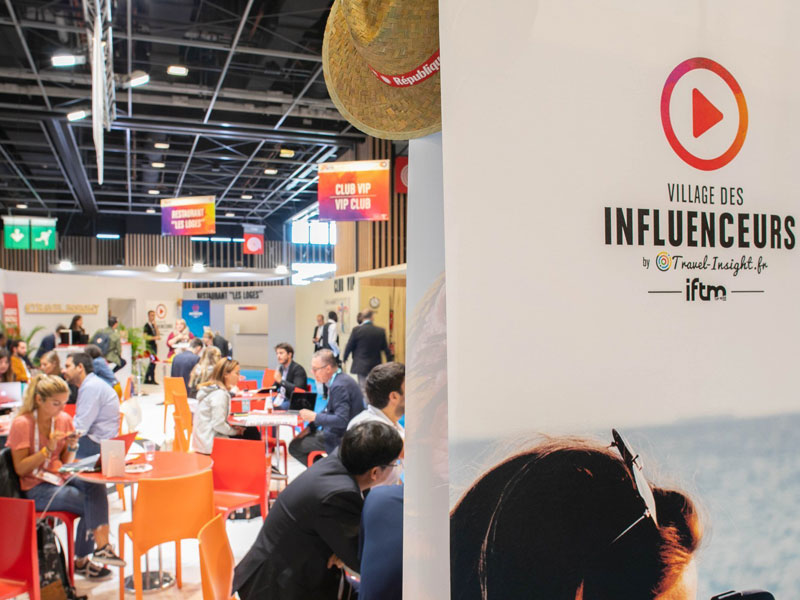 Le village des influenceurs sur le salon IFTM Top Resa - Photo Alexandre Nestora