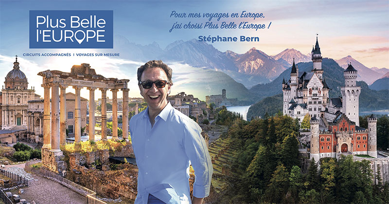 Stéphane Bern sur le stand U73 de Plus Belle l'Europe, Mercredi 02/10 à partir de 16h30